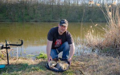 Pescuit la Crap şi Caras primăvara pe Balta Cămineasca