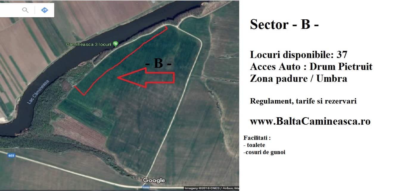 Rezervări Balta Cămineasca Sector - B -