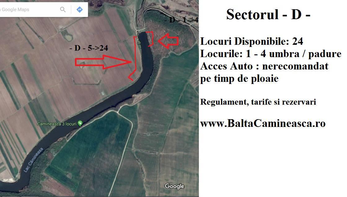 Rezervări Balta Cămineasca Sector - D -