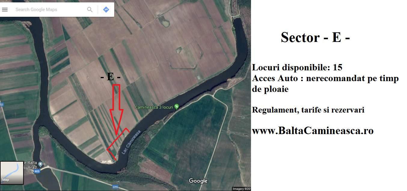 Rezervări Balta Cămineasca Sector - E -